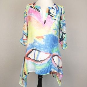 Kaktus Water Color Print Swim Coverup/Tunic